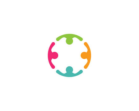 Adoption and community care   template vector icon 일러스트