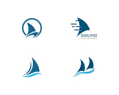 Sailing boat  Template vector