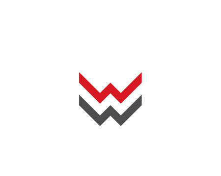 W Letter  Business Template