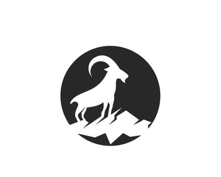 Goat  Template vector Illustration