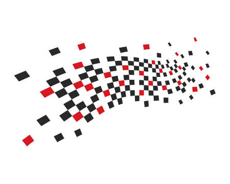 Race flag vector template Stock Illustratie