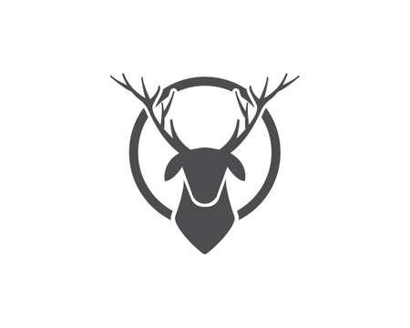 Deer ilustration vector template Vecteurs