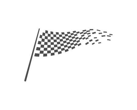 Race flag vector template Stockfoto - 153452312