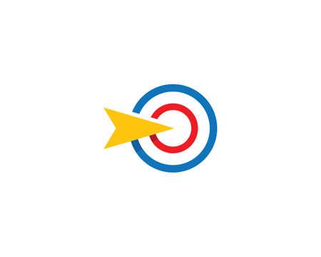 Target icon vector illustration template Vector Illustratie