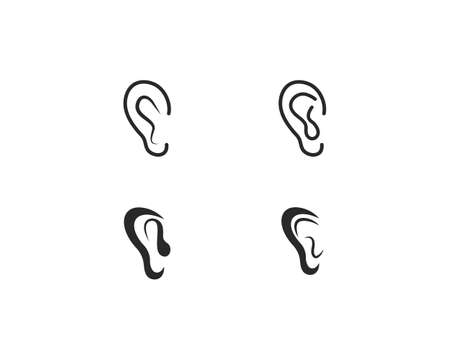 Hearing   Template vector