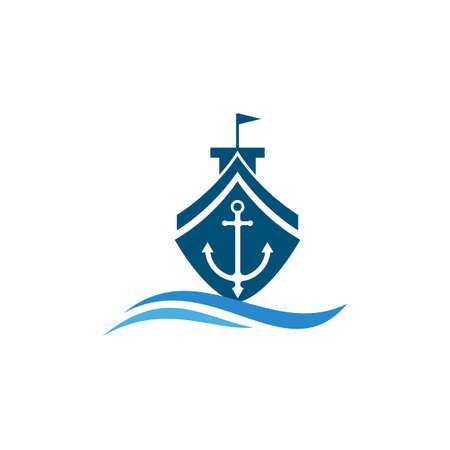 cruise ship Logo Template vector icon design Logo