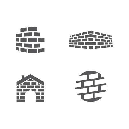 Brick wall logo vector ilustration design