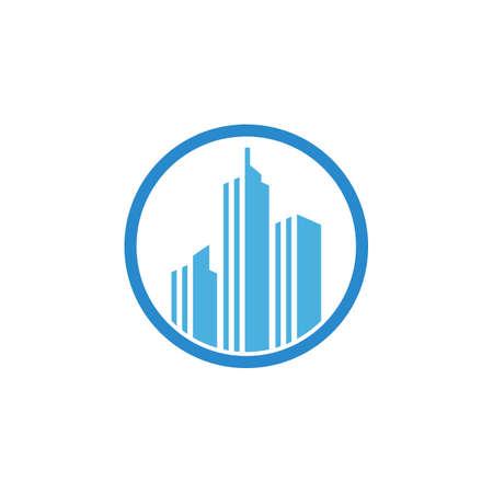 City skyline, city silhouette vector illustration in flat design