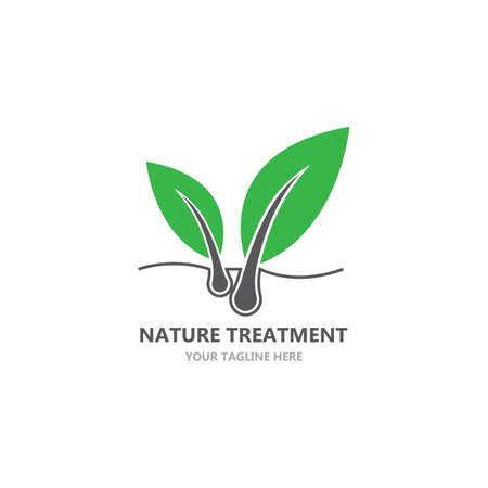 Hair treatment logo vector icon template Logo