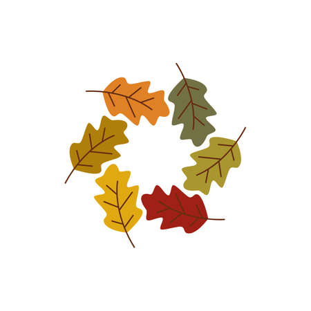 Autumn Leaf icon illustration