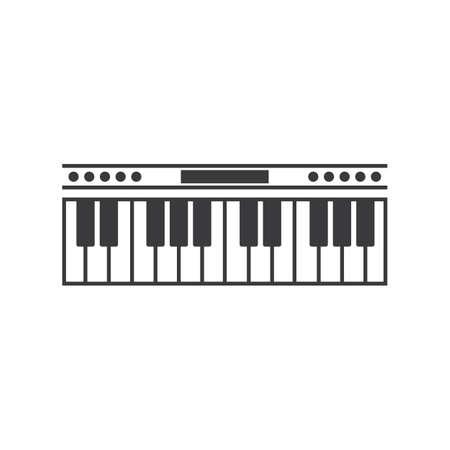 Piano icon illustration template