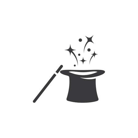 Wand Magic hat icon template