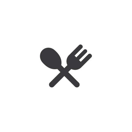 fork and spoon icon vector template Vector Illustration