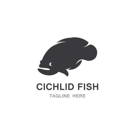 Chichlid Fish icon Template