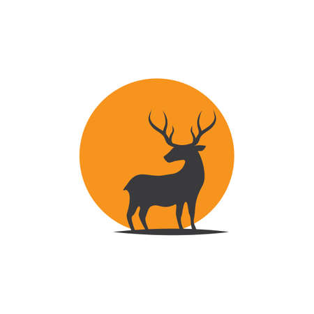 Deer ilustration logo vector template
