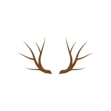 Antler ilustration logo vector template