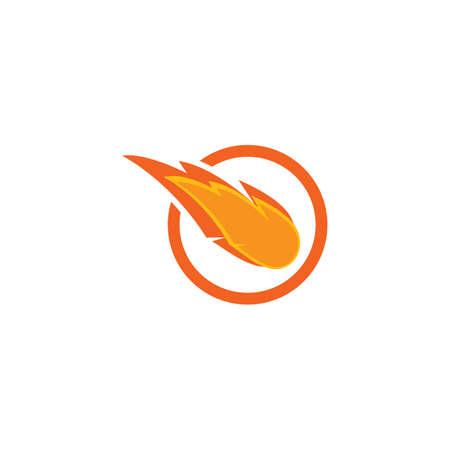 Meteorite ilustration logo vector template Logo