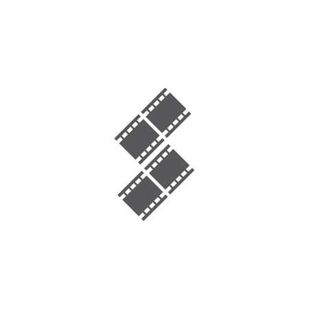 filmstrip ilustration icon flat design