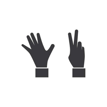 Gesture Hand icon Template vector