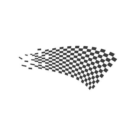 Race flag logo vector template