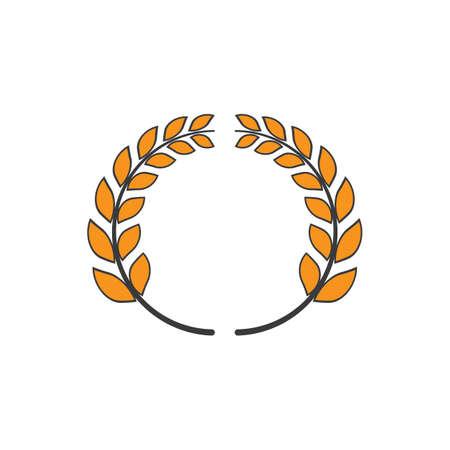 Wheat ilustration Logo Template vector icon design