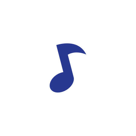 Music note logo Vector template