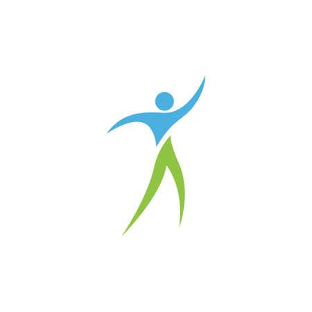 Healthy Life people Logo template vector icon