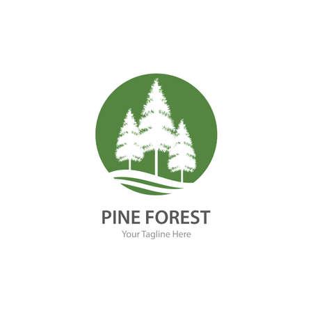 Pine tree illustration vector design Vecteurs