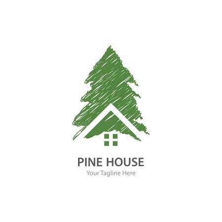 Pine tree illustration vector design