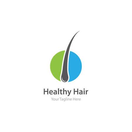 Follicle Hair treatment  vector icon template
