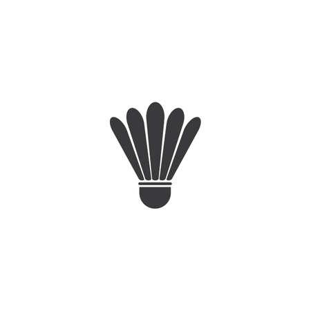 shuttlecock illustration vector design