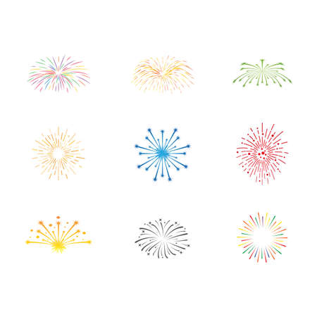 Firework illustration template vector design Vetores