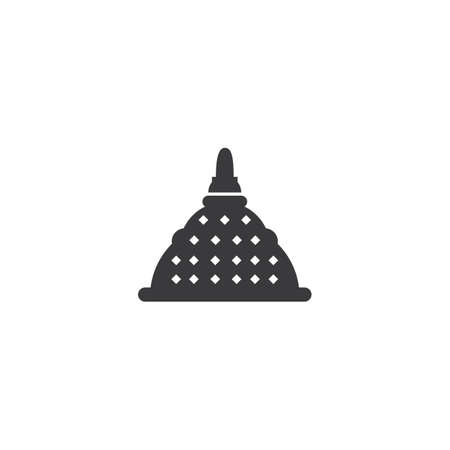 Stupa temple  flat design vector