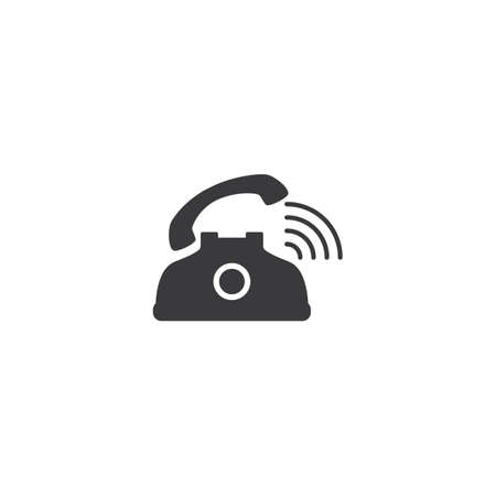 Telephone icon customer service call vector flat design
