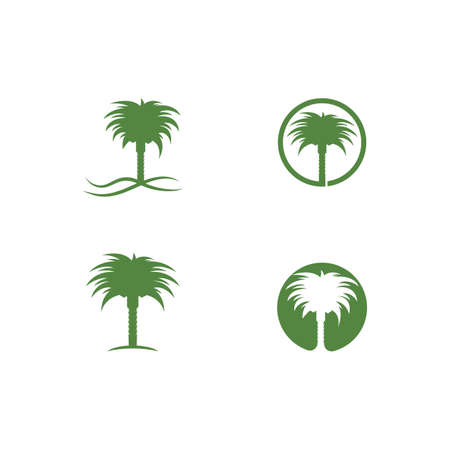 Date palm  vector illustration