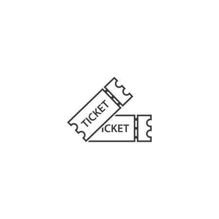 Ticket  icon vector flat design Vettoriali