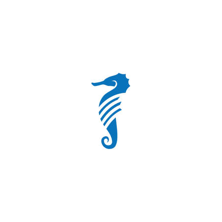 Sea horse illustration  vector flat design