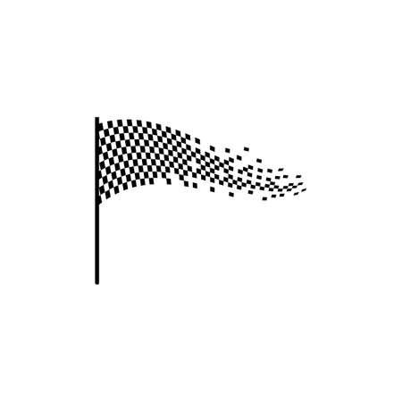 Race flag  vector template