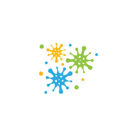 Bacterial Probiotic icon vector flat design Illustration