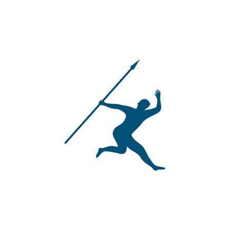 Athletics player silhouette illustration vector