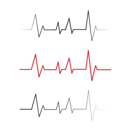 Pulse line ilustration vector template Ilustración de vector