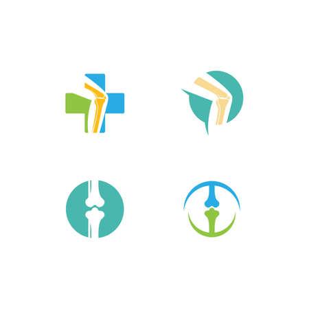 Orthopaedic clinic logo vector illustration