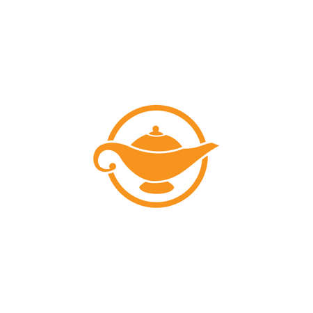 Magic lamp logo vector illustration design Foto de archivo - 153945795