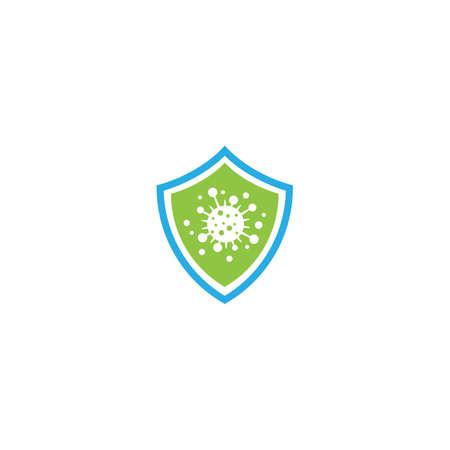 Bacterial virus icon vector flat design Illustration