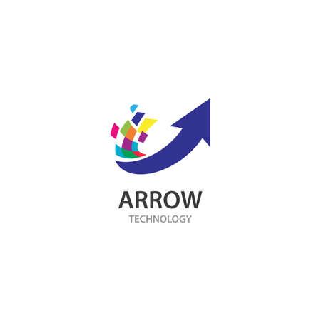 Arrow logo  design vector template Иллюстрация