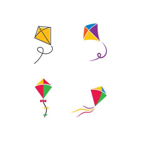 Kite illustration logo vector design