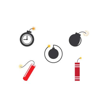 Time Bomb dynamite icon vector design