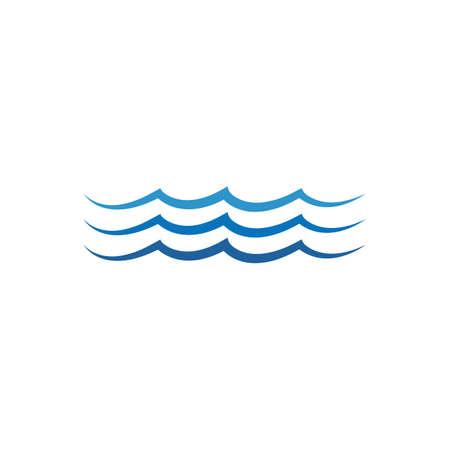 Water wave design vector Template