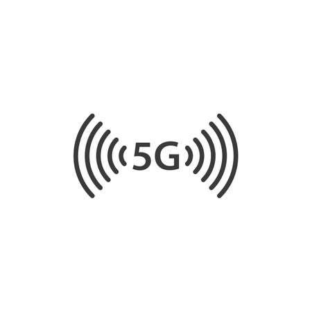 5G Icon vector flat design