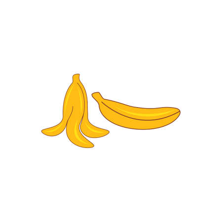 Banana logo illustration vector template